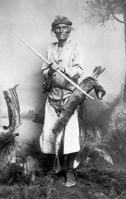 An old photograph of a Navajo Indian [A].