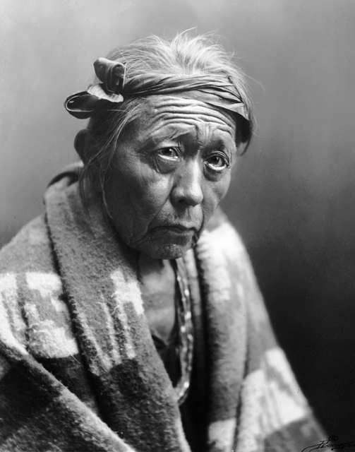 An old photograph of a Navajo Indian [B].