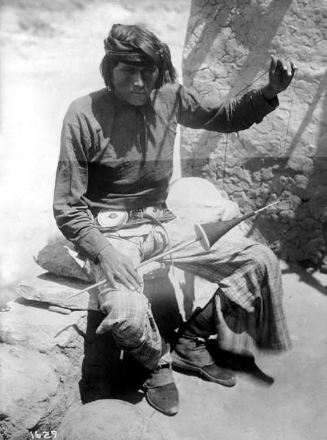 An old photograph of a Navajo Indian [C].