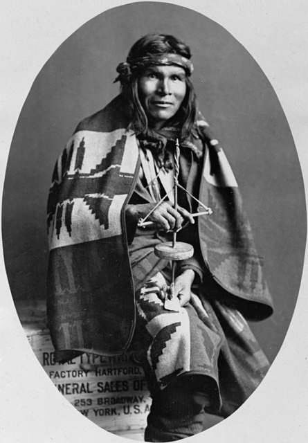 An old photograph of a Navajo Indian [E].
