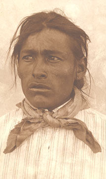 An old photograph of a Navajo Indian [F].