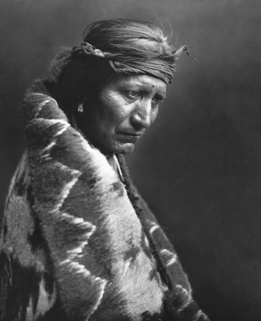 An old photograph of a Navajo Indian [H].