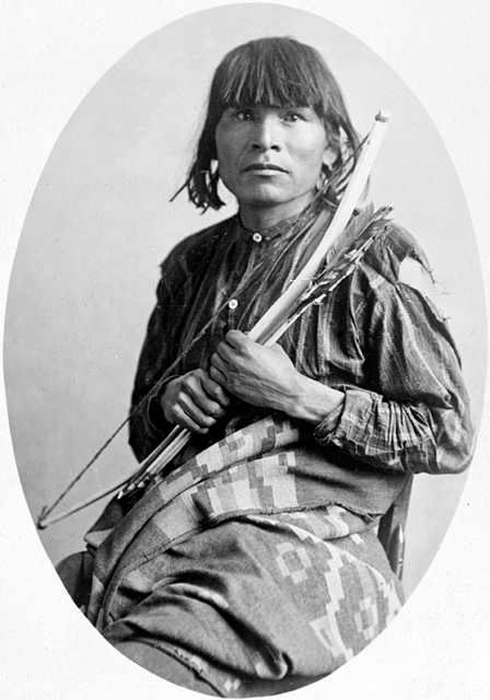 An old photograph of a Navajo Indian [I].