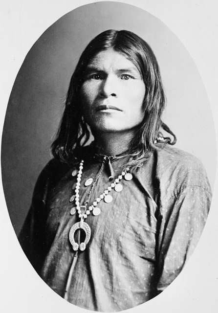 An old photograph of a Navajo Indian [K].