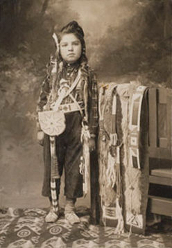 An old photograph of a Nez Perce Boy.