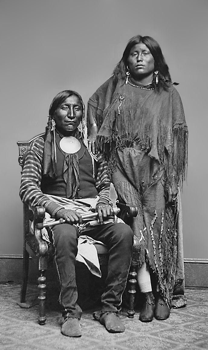 An old photograph of a Pair of Indians.