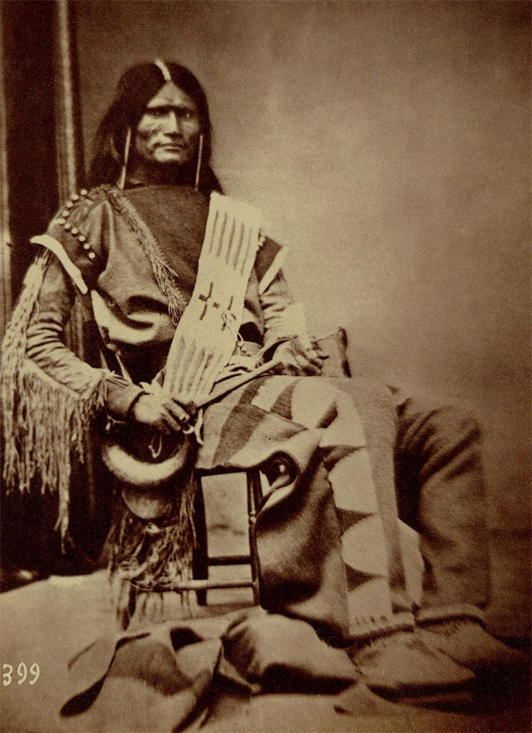 An old photograph of a Parowan Chief - Ute 1867-69.