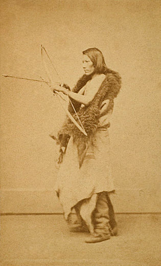 An old photograph of a Pawnee Man c1869 [A].