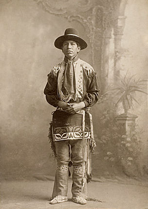 An old photograph of a Potawatomi Indian.