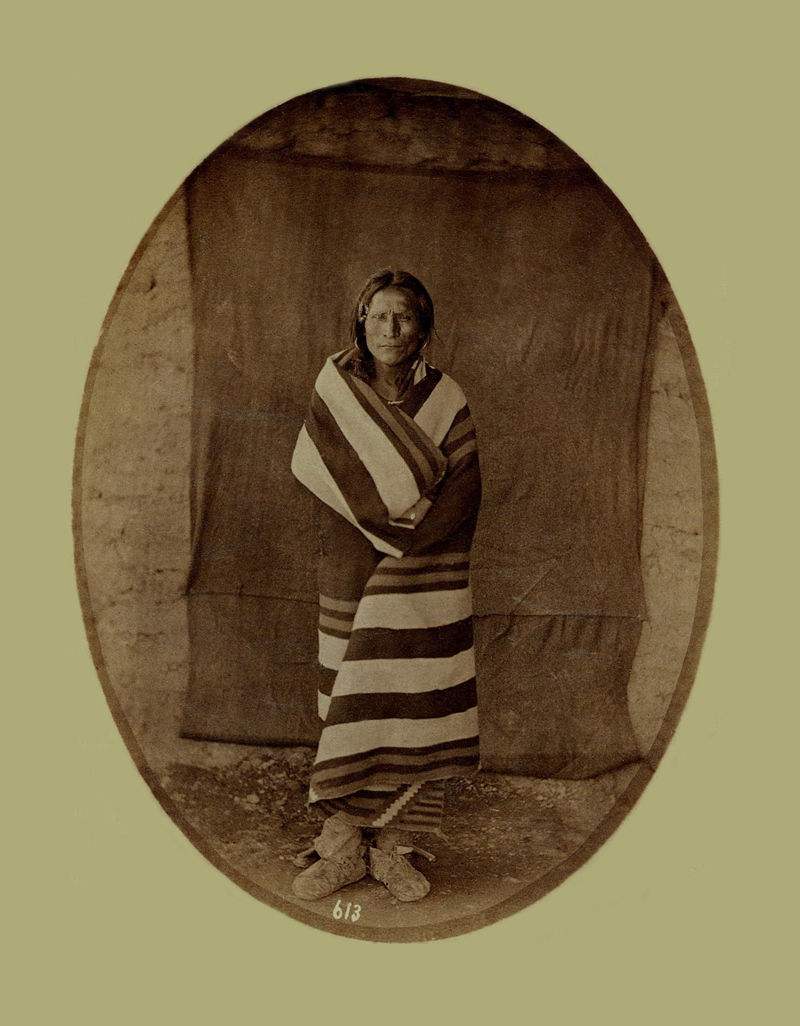 An old photograph of a Pueblo Indian from Taos 30th Sept 1871.