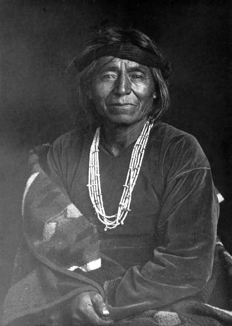 An old photograph of a Pueblo Man.