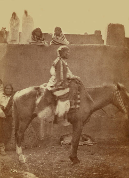 An old photograph of a Pueblo Women from Taos 30th Sept 1871.