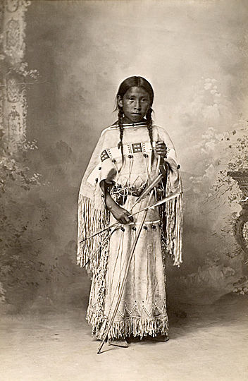 An old photograph of a Southern Cheyenne Girl.