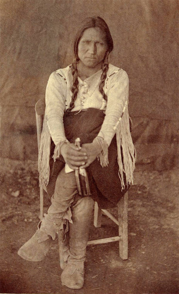 An old photograph of a Taos Pueblo Indian 30th Sept 1871.