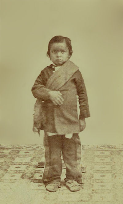 An old photograph of a Winnebago Child [A].