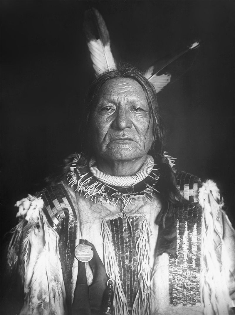 An old photograph of a Yankton Dakota Indian.