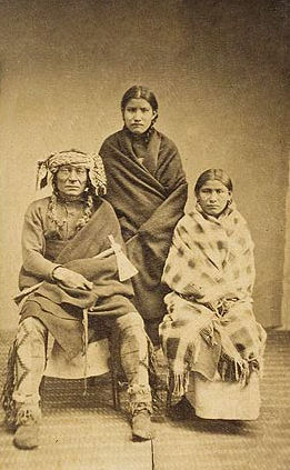 An old photograph of a Yankton Family c1868.