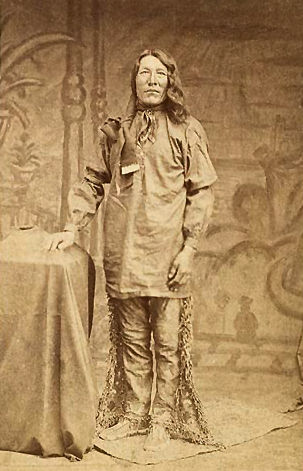 An old photograph of a Yankton Man c1875 [A].