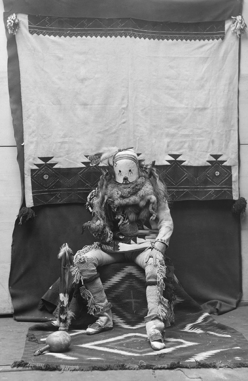 An old photograph of a Zuni in Costume [A].