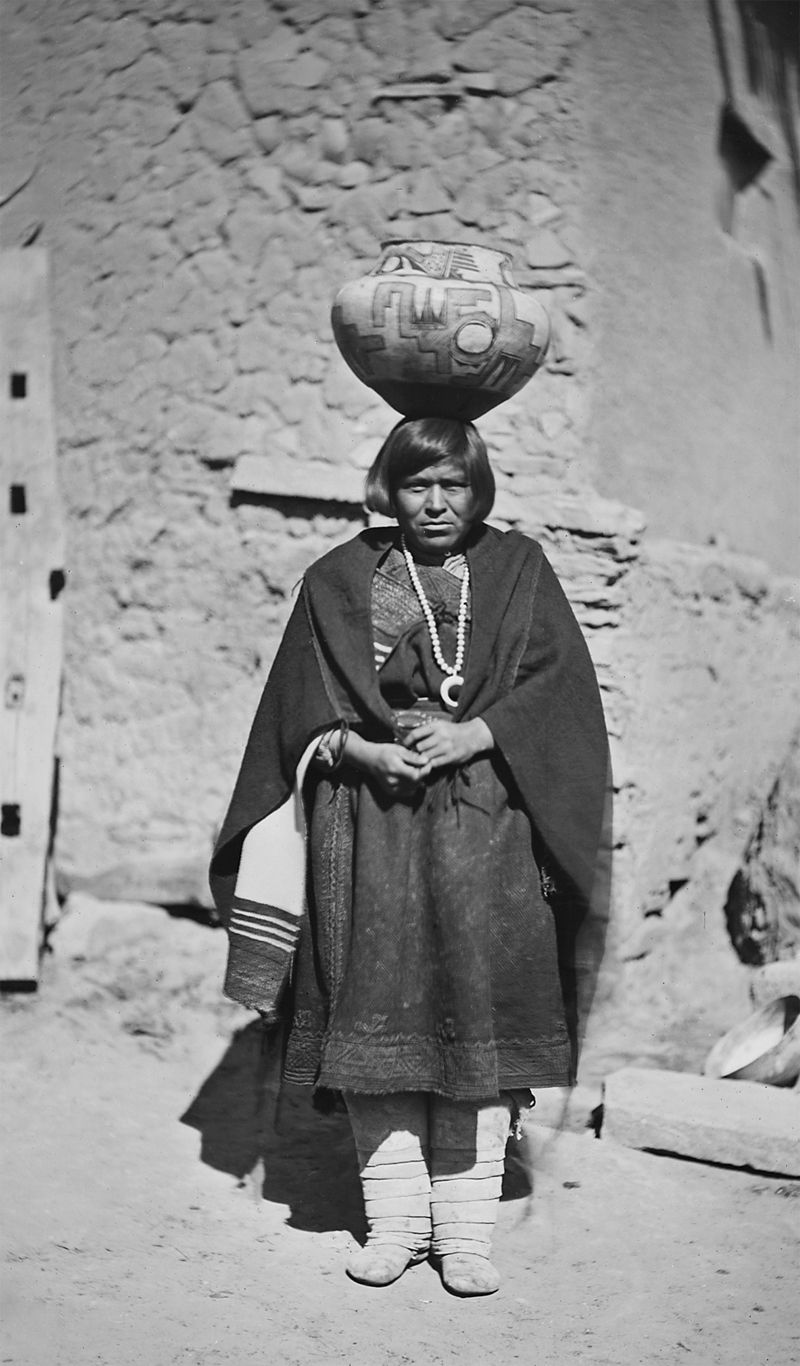 An old photograph of a Zuni Water Carrier.