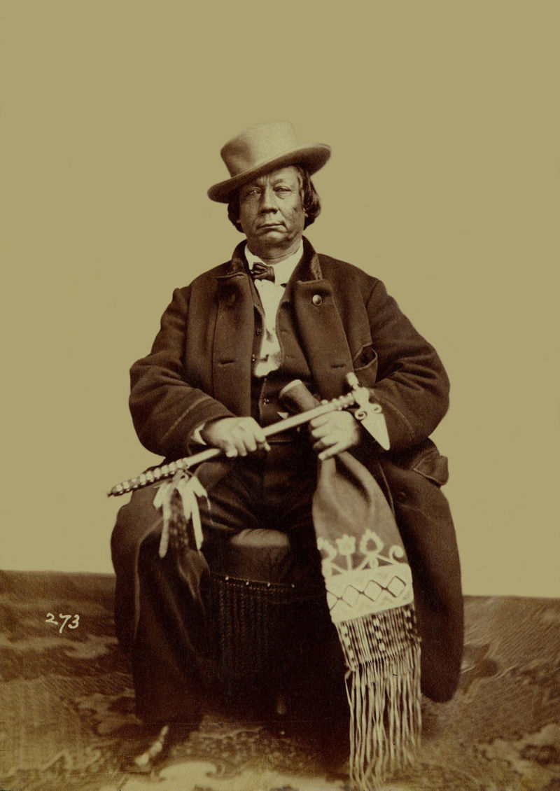 An old photograph of Alexander Gwin aka Young Interpreter - Yankton Sioux 1867.
