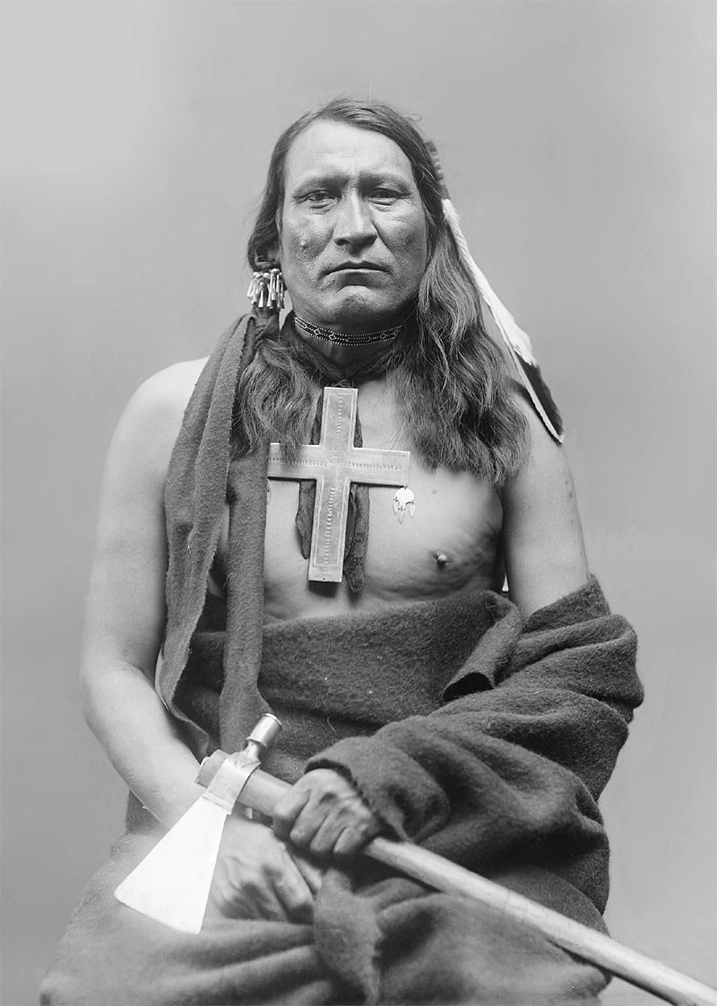 An old photograph of an Unidentified Cheyenne Indian [B].