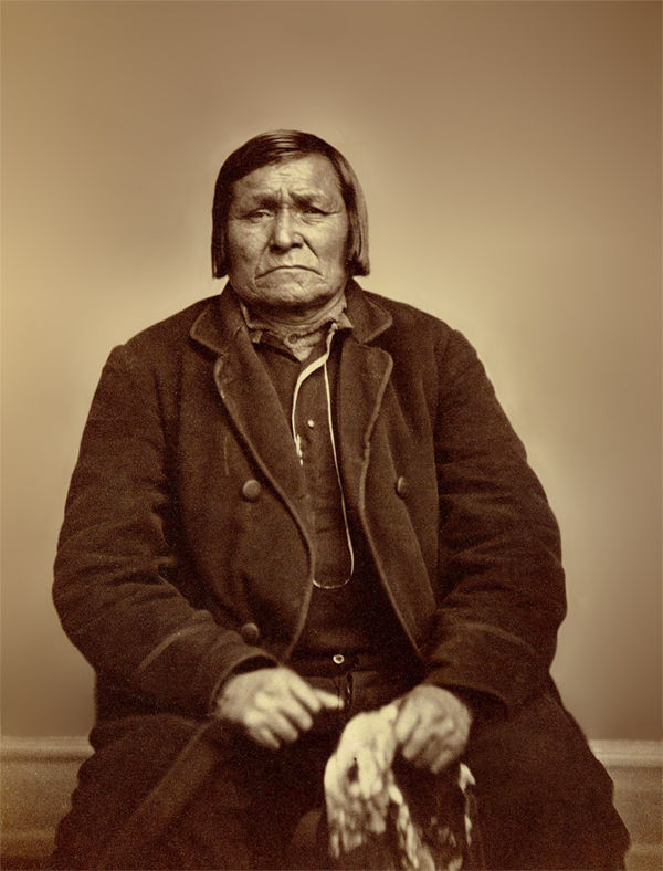 An old photograph of an Unidentified Native American [H].