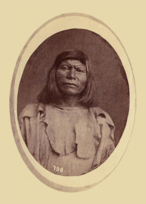 An old photograph of an Unidentified Native American [I].