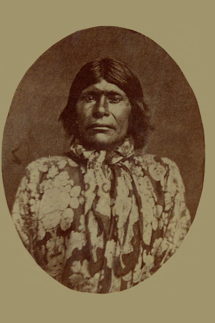 An old photograph of an Unidentified Native American [K].