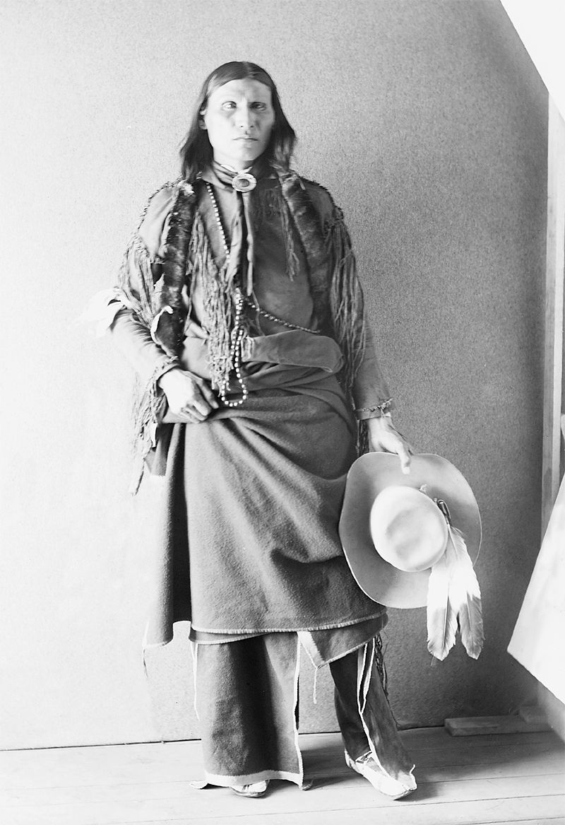 An old photograph of an Unidentified Native American [L].