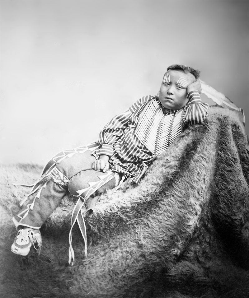 An old photograph of Angelic La Moose [Grand-Daughter of a Flathead Chief] [B].