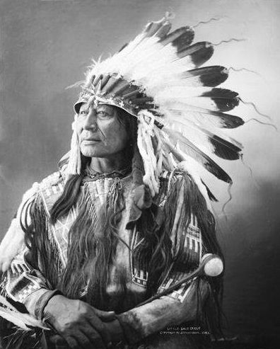 An old photograph of Anin Kasan Cikala aka Little Bald Eagle - Lakota.