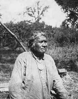 An old photograph of Asha-we-ge-sig - Ojibwa Chief.