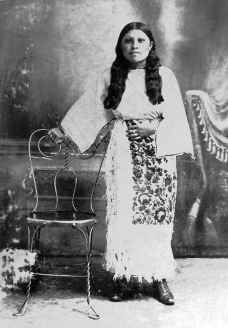 An old photograph of Betty Kerchee - Comanche.
