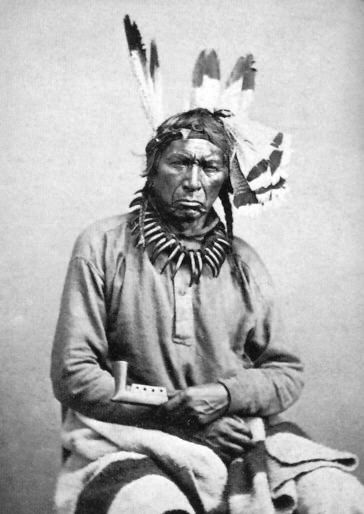 An old photograph of Big Dog aka Ne-bah-quah-om - Chippewa Chief [B].