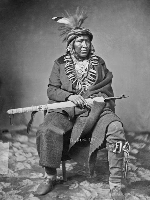 An old photograph of Big Eagle - Mdewakanton 1858.