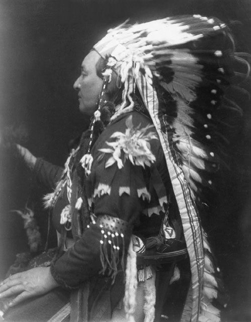 An old photograph of Billy Joshua aka Unsoriunt - Umatilla Indian Reservation, Oregon.