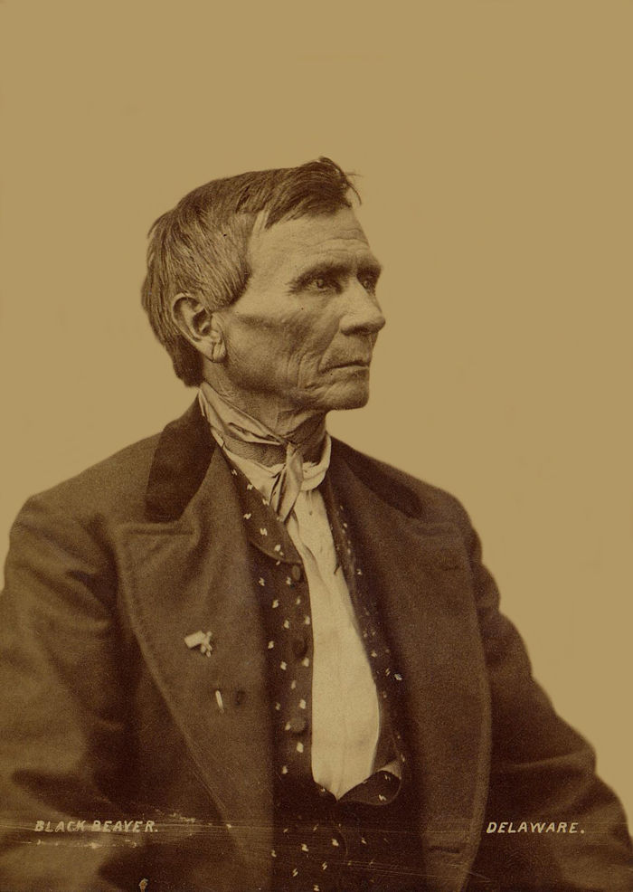 An old photograph of Black Beaver - Delaware 1868 [B].