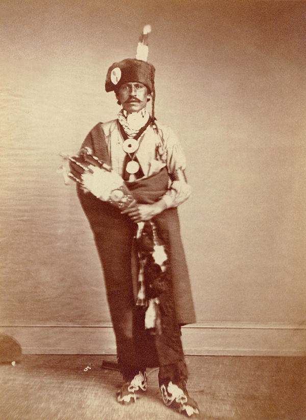 An old photograph of Black Hawk aka Kra-ten-tha-wah - Iowa Chief 1869 or 1871.