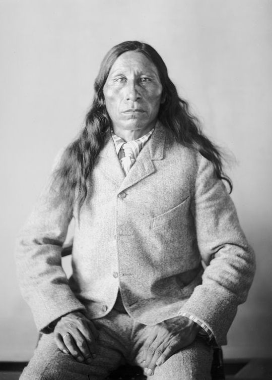 An old photograph of Black Heart - Oglala 1903.