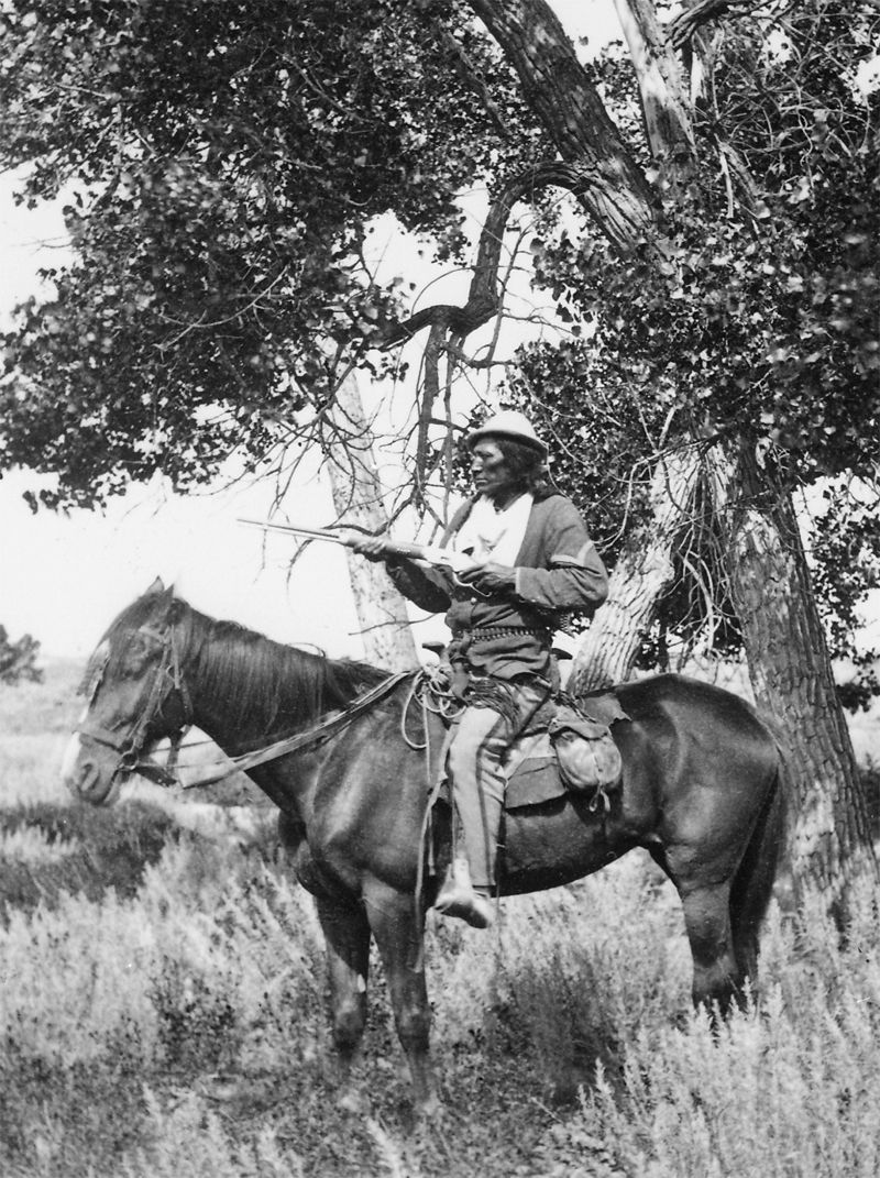 An old photograph of Bloody Knife (Custer's Scout) on Yellowstone Expedition.