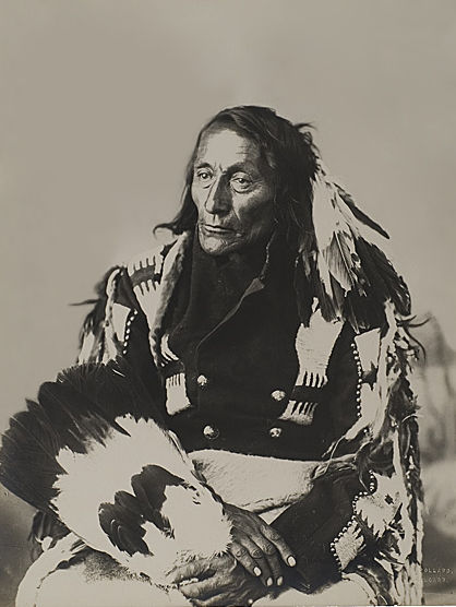 An old photograph of Bob Tail - Cree Chief.