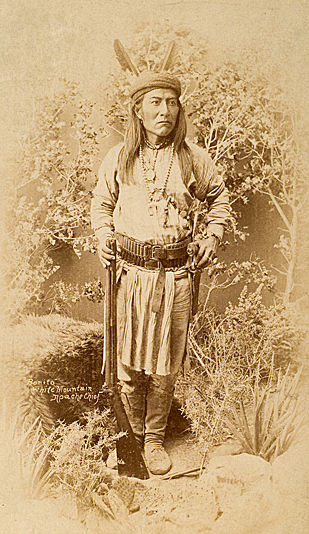 An old photograph of Bonito - White Mountain Apache Chief.