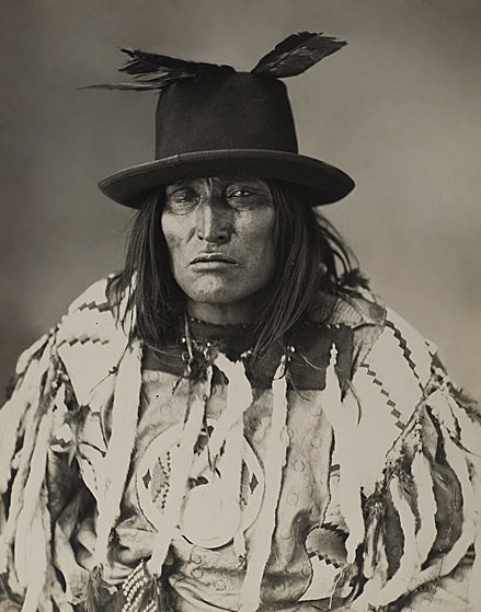 An old photograph of Bulls Head - Old Sarcee Chief.