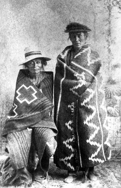 An old photograph of Calletano and Jake - Navajo.
