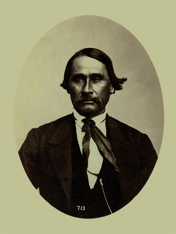 An old photograph of Charles Tucker aka The One Who Comes aka Wet-Ta-Ka - Shawnee 1869 [A].
