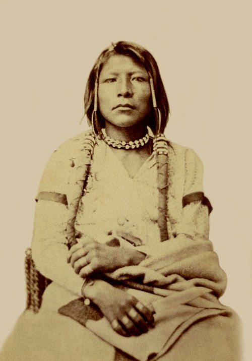 An old photograph of Charley - Shoshone 1869.