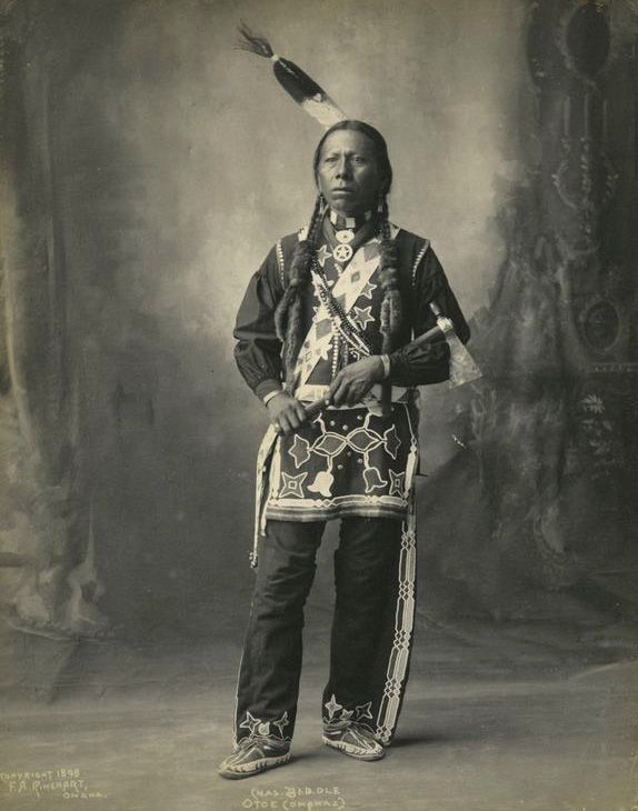 An old photograph of Chas Beddle - Otoe 1898.