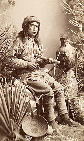 An old photograph of Chasi-ta, Son of Bonito - Warm Springs Apache.