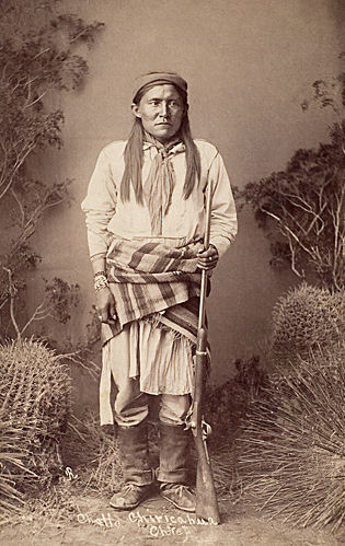 An old photograph of Chatto Chiricahua - Apache Chief.